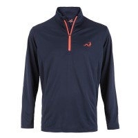 Woodworm 1/4 Zip Golf Pullover - Navy/Red