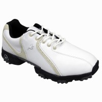 Woodworm Golf Ladies Golf Shoes - White / Beige