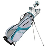 GolfGirl FWS3 Ladies Complete All Graphite Petite Golf Clubs Set with Stand Bag Lefty