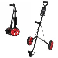 Young Gun Kids Adjustable Golf Trolley for Junior Golfers 3-14 Years Old Black/Red