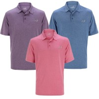 Woodworm Golf Solid Heather Golf Polo Shirt 3 Pack