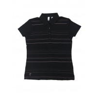 Ashworth Ladies Striped Polo Shirt